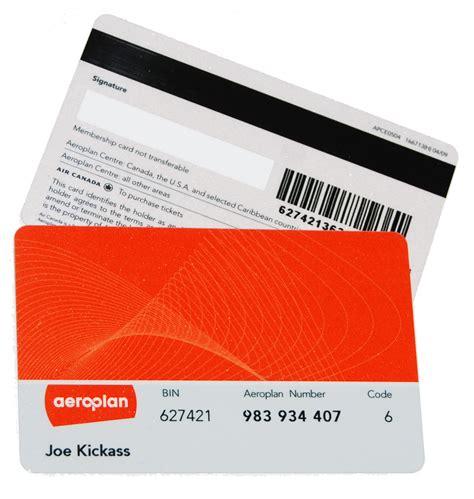 Air Canada Gift Card Canada Post - aeroplan card w o star alliance insignia flyertalk forums