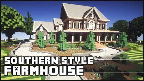 minecraft farm house minecraft southern styled farmhouse youtube