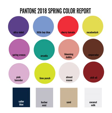 2018 pantone color of the year designs in paper pantone 2018 color trends spring report