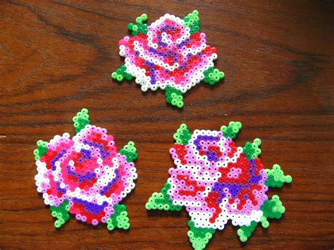 bead of roses oklyous creative world hama bead projects