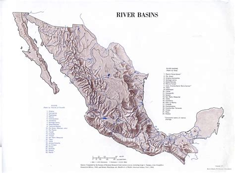 map of rivers in mexico nationmaster maps of mexico 54 in total