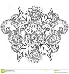 coloring pages adults henna mehndi doodles abstract floral elements stock vector image