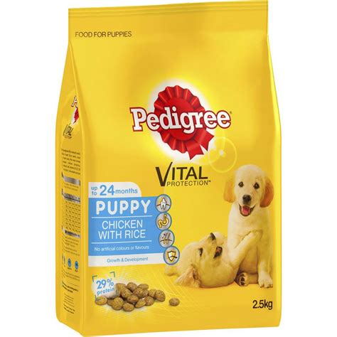 for puppy food pedigree puppy food chicken rice woolworths