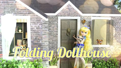 make a doll house diy how to make folding dollhouse handmade doll crafts youtube