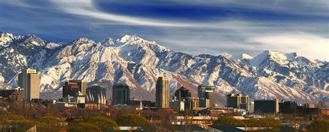 salt lake city skyline photograph by utah images
