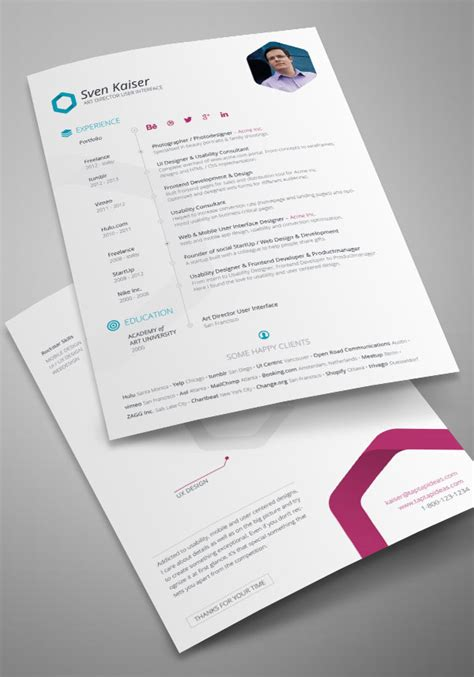 template resume free indesign 10 all time best free resume cv templates in word psd