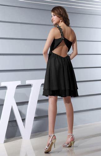 Plain Asymmetric Sleeveless Dress black plain asymmetric neckline sleeveless chiffon mini