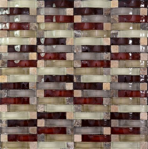 crystal mosaic tile arched kitchen backsplash bridge