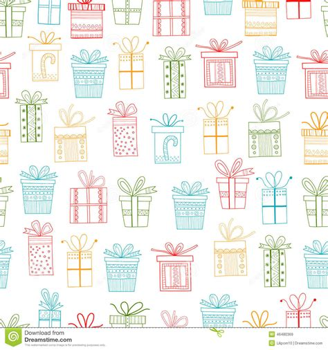 gift pattern vector seamless pattern of gift packages christmas gifts stock