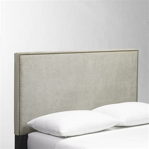 fabric nailhead headboard nailhead upholstered headboard west elm