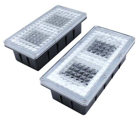 Solar Brick Lights by Paverlight Solar Brick Lights Set Of 2