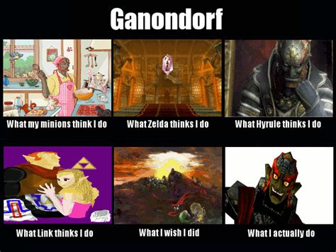 what my friends think i do template what think i do what i really do meme ganondorf