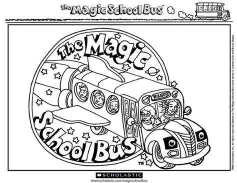 magic school bus coloring pages coloring home