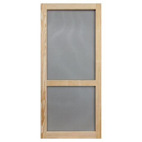screen doors shop screen tight stain grade pine wood hinged single bar