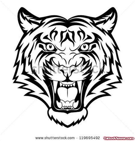 tiger tattoo outline designs 55 tribal tiger tattoos