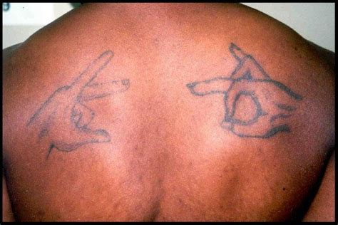 photo 7 black gang tattoos photo gallery