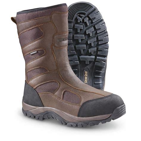 waterproof boots guide gear side zip ii waterproof boots 653260 boots at sportsman s guide
