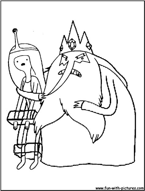 adventure time coloring pages princess bubblegum adventuretime iceking princessbubblegum coloring page