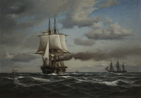 peter macon painting painting of the danish frigate quot jylland quot a ship from the