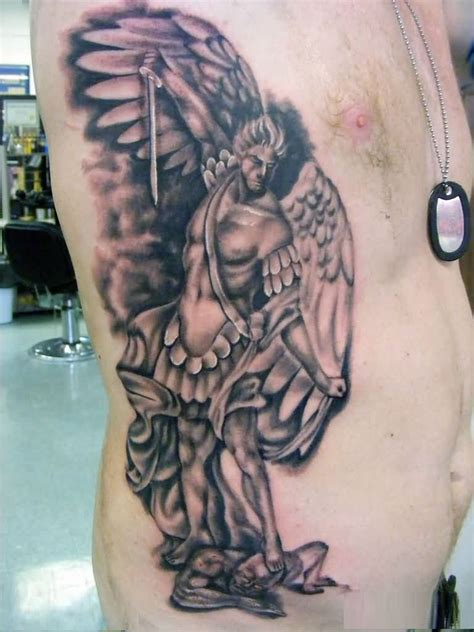 true image tattoo true 3d of guardian with sword on