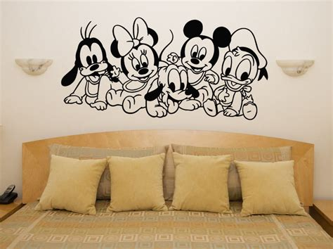 Disney Wall Decals For Nursery Baby Disney Characters Mickey Minnie Nursery Children S Decal Wall Sticker Ebay
