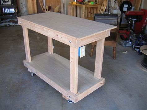 woodworking shop benches rolling work bench treenovation