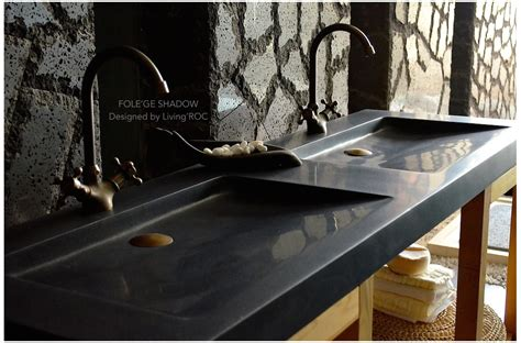 White Wash Table And Chairs by 63 Quot Double Black Granite Trough Sink Bathroom Basins Stone