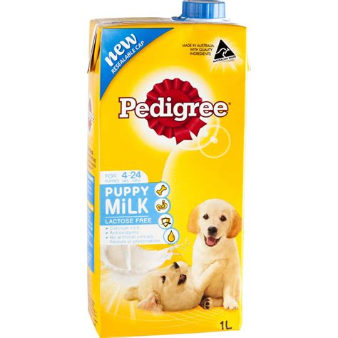 puppy milk pedigree puppy milk food milk 1l woolworths