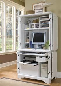 Small Lockable Computer Desk Home Styles Naples Compact Computer Cabinet W Hutch 5530 190
