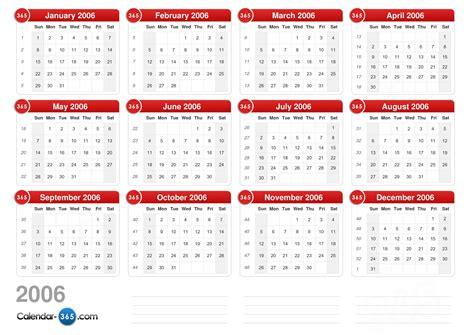 December 2006 Calendar 2006 Calendar