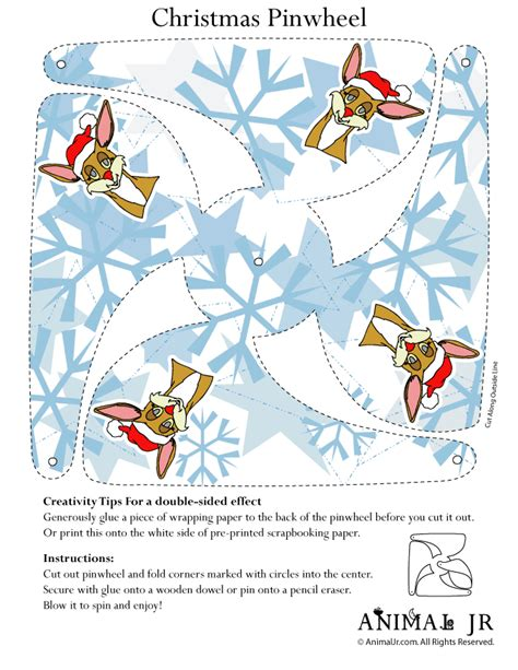 easy christmas crafts printable pinwheels woo jr kids