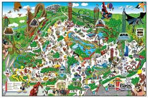 mapa de six flags en arlington map of six flags
