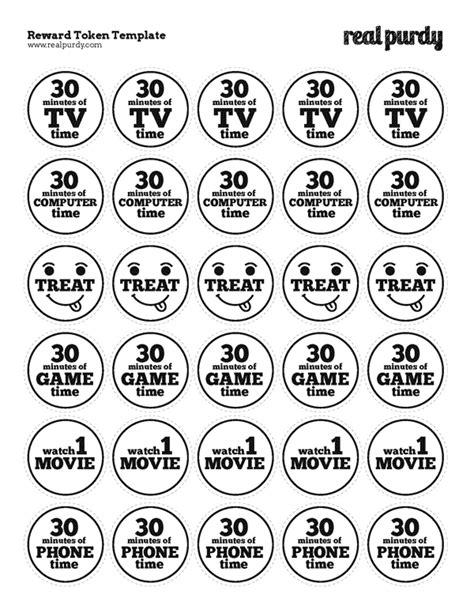 token reward system template diy reward tokens real purdy
