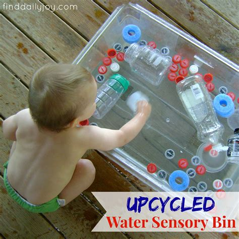 sensory water upcycled water sensory bin with toddler find