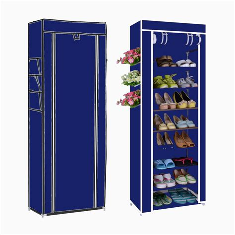 10tier canvas fabric shoe rack shoes organiser storage