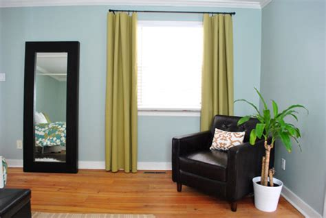 young house love curtains making no sew bedroom curtains with fabric and hem tape