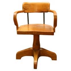 interesting solid burled wood swivel desk chair at 1stdibs
