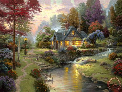 kinkade cottage paintings kinkade stillwater cottage painting stillwater