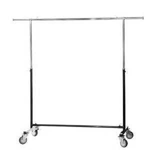 adjustable clothes rail with heavy duty wheels black