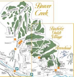 map of beaver creek colorado beaver creek bachelor gulch and arrowhead ski area map