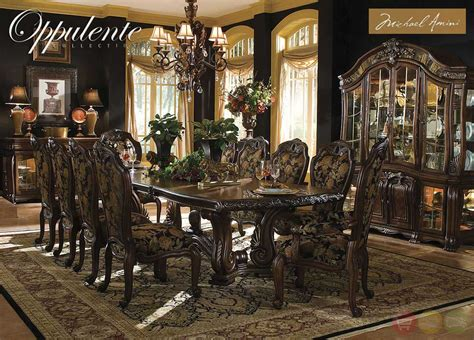 michael amini oppulente luxury formal dining room set  aico