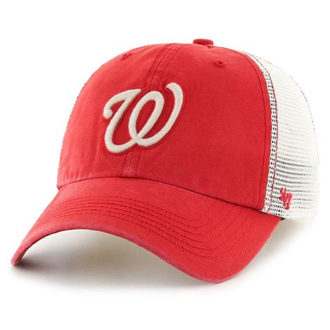 47 brand washington nationals mlb rockford mesh baseball