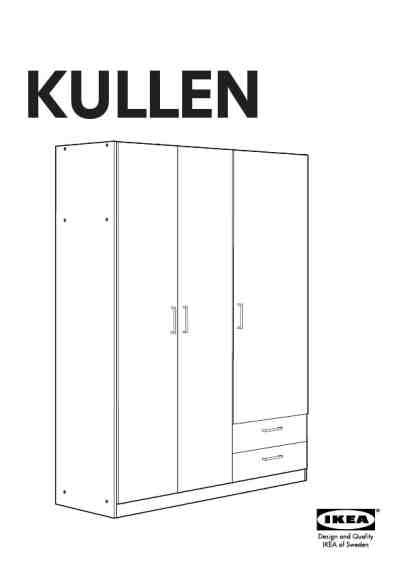 kullen wardrobe w 3 doors 57x75 quot furniture