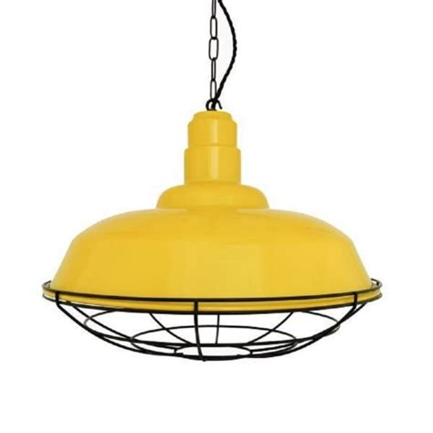 Industrial Style Pendant Lights Uk Yellow Metal Ceiling Pendant Light Shade Industrial Style Black Cage
