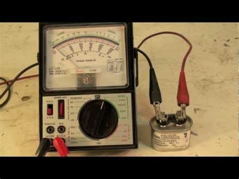 test capacitor analog multimeter how to check the capacitor with an analog meter how to make do everything