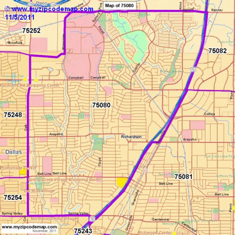 map richardson texas zip code map of 75080 demographic profile residential housing information etc