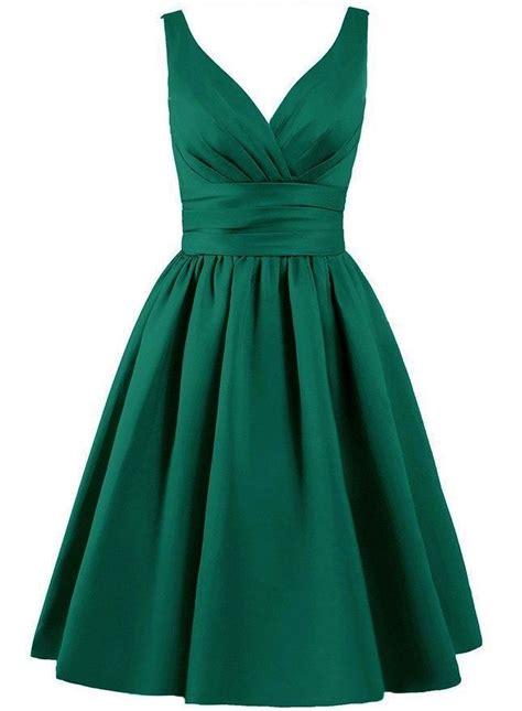 Greeny Dress bridget emerald green matte satin