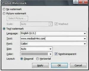 membuat watermark word 2013 cara membuat watermark pada microsoft word