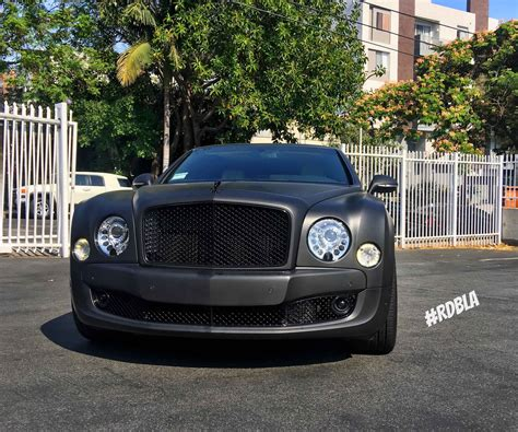 matte bentley matte black bentley mulsanne tuned by rdb
