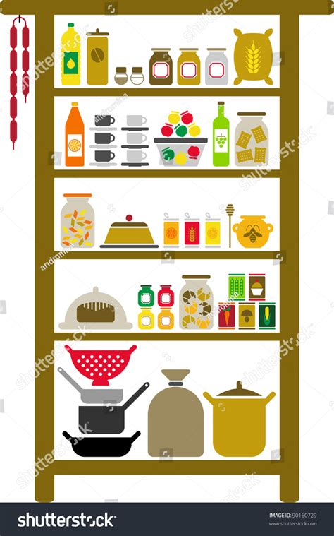 vectorized pantry stock vector 90160729